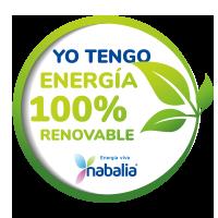 Nabalia - Certificat - Jo tinc energía 100% renovable